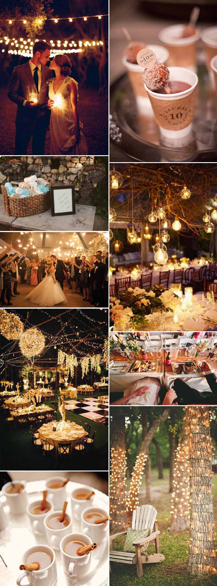 beautiful inspiration for an evening wedding