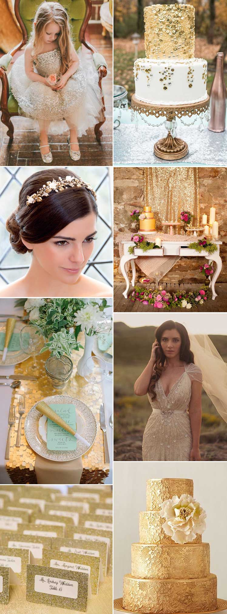 be inspired by our stunning gold wedding inspiration