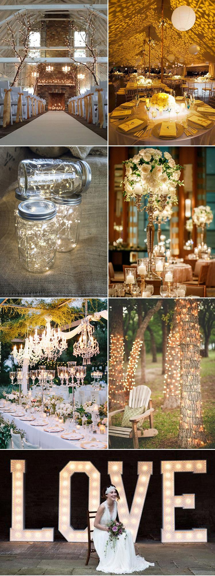 inspirational ideas to light up your wedding