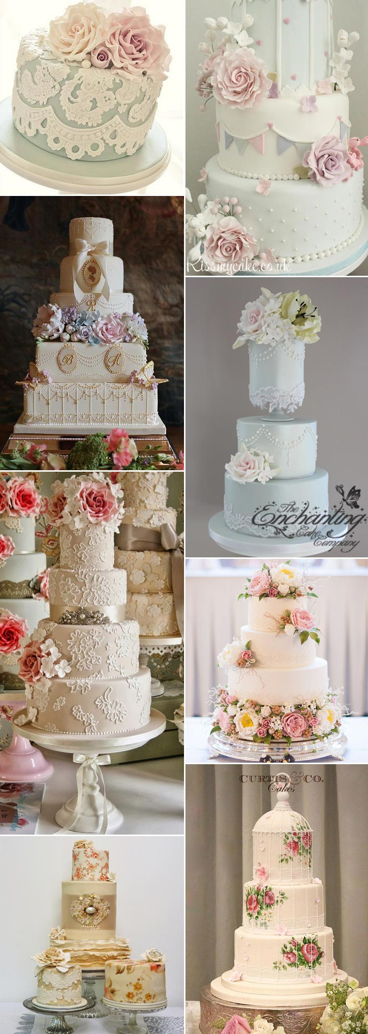 Stunning vintage cakes for your wedding day