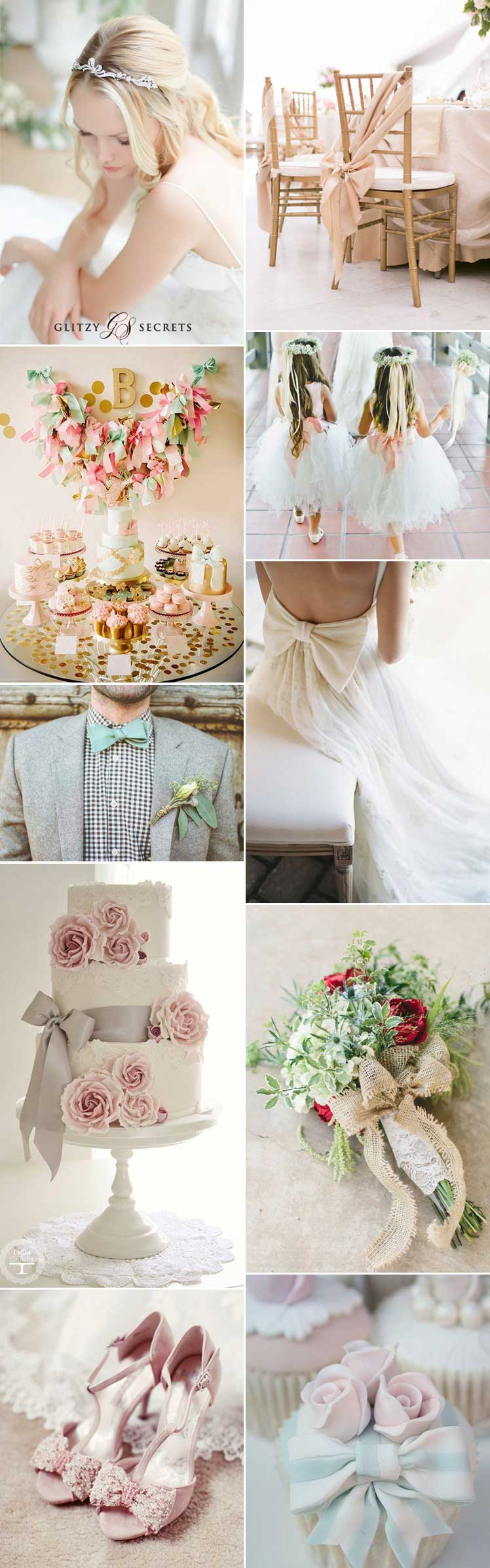 Bow wedding theme ideas and inspiration