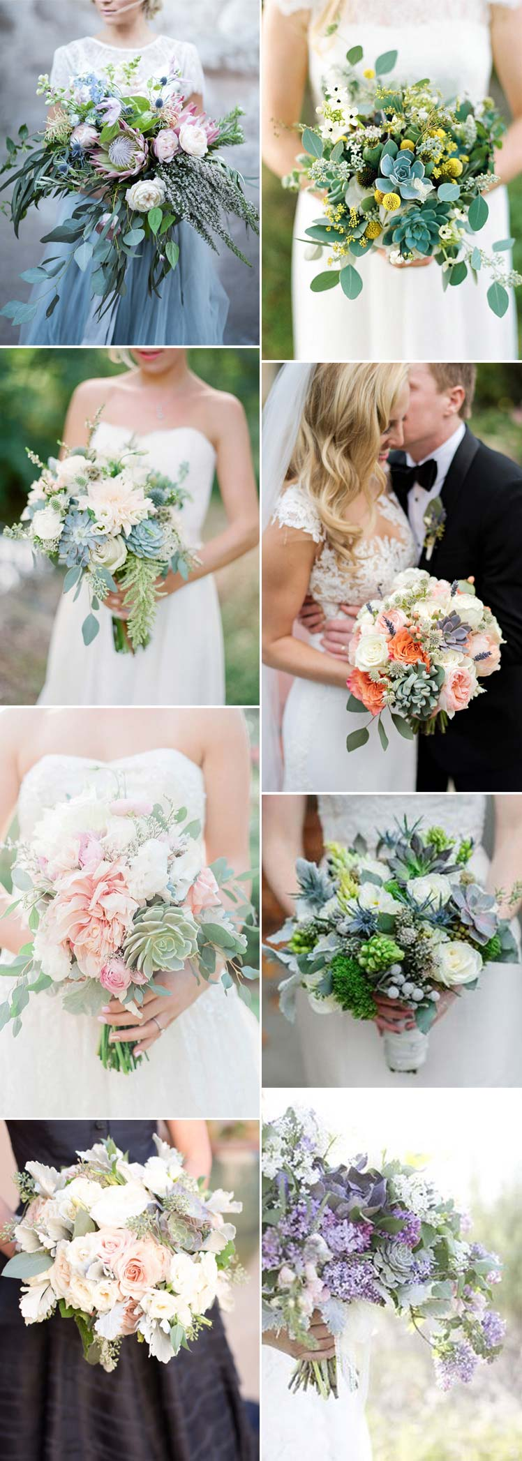Succulent bridal bouquet inspiration for your special day