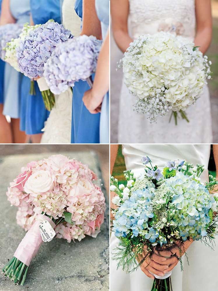 hydrangeas create the most beautiful wedding bouquets