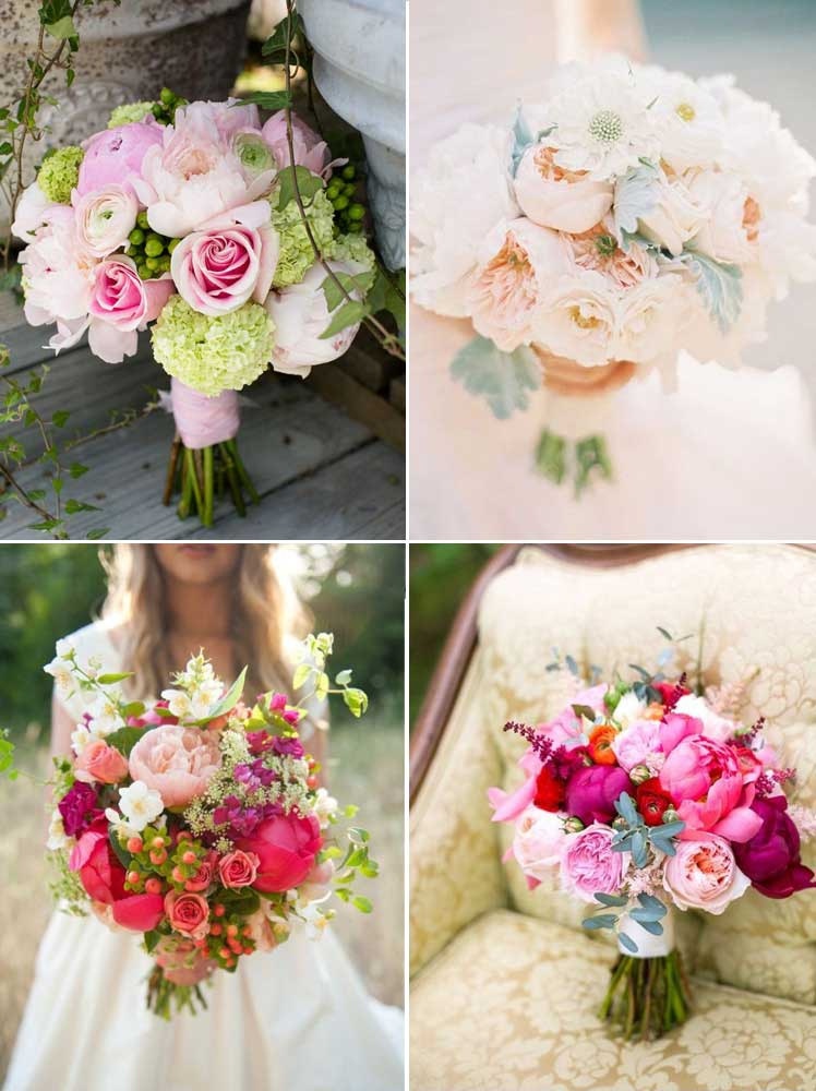 sensational summer peony wedding bouquets