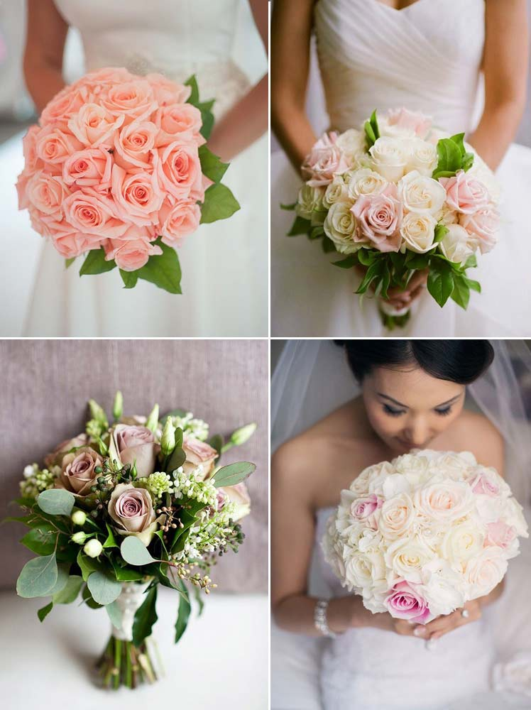 summer rose wedding bouquets are timeless and beautiful