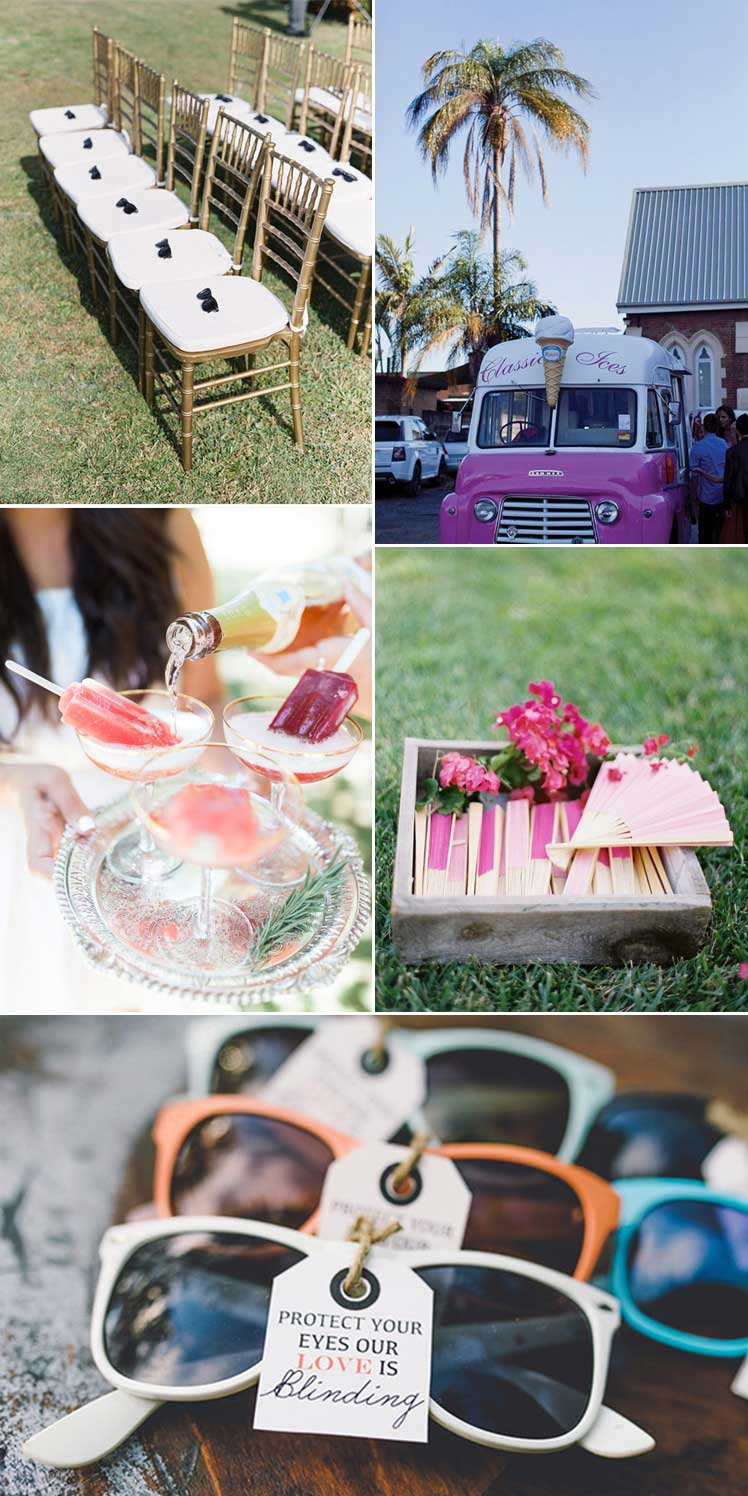 how to keep cool at a summer wedding