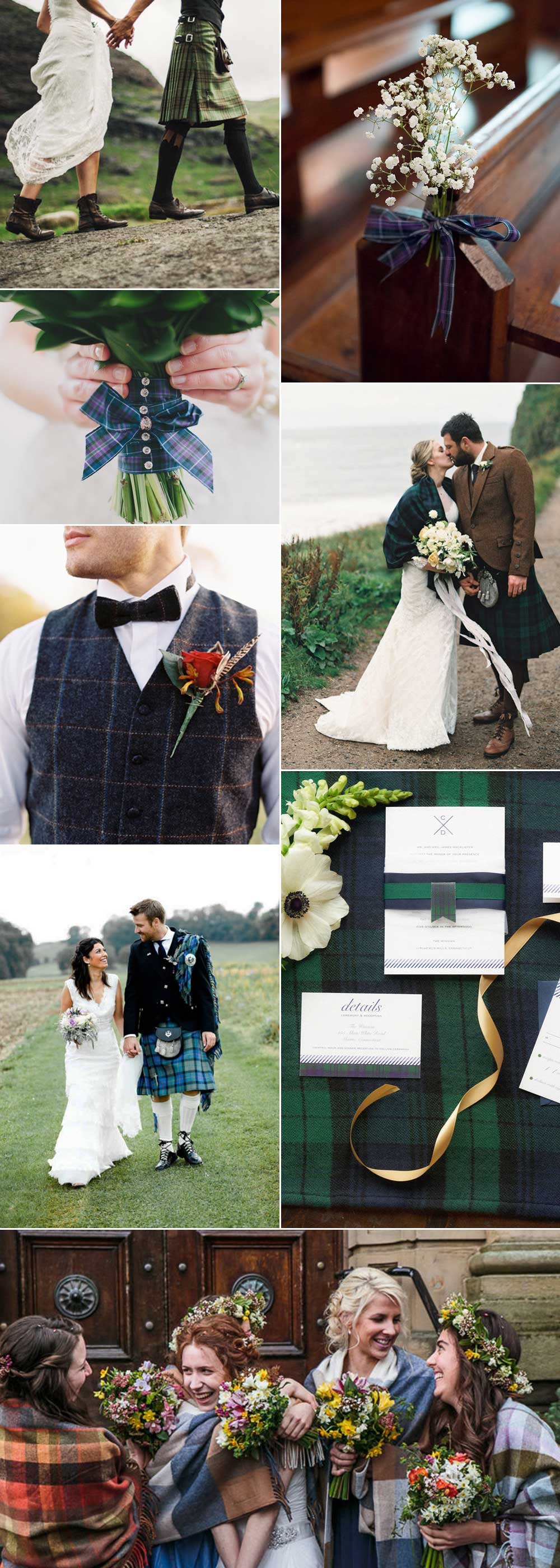 tartan wedding inspiational ideas