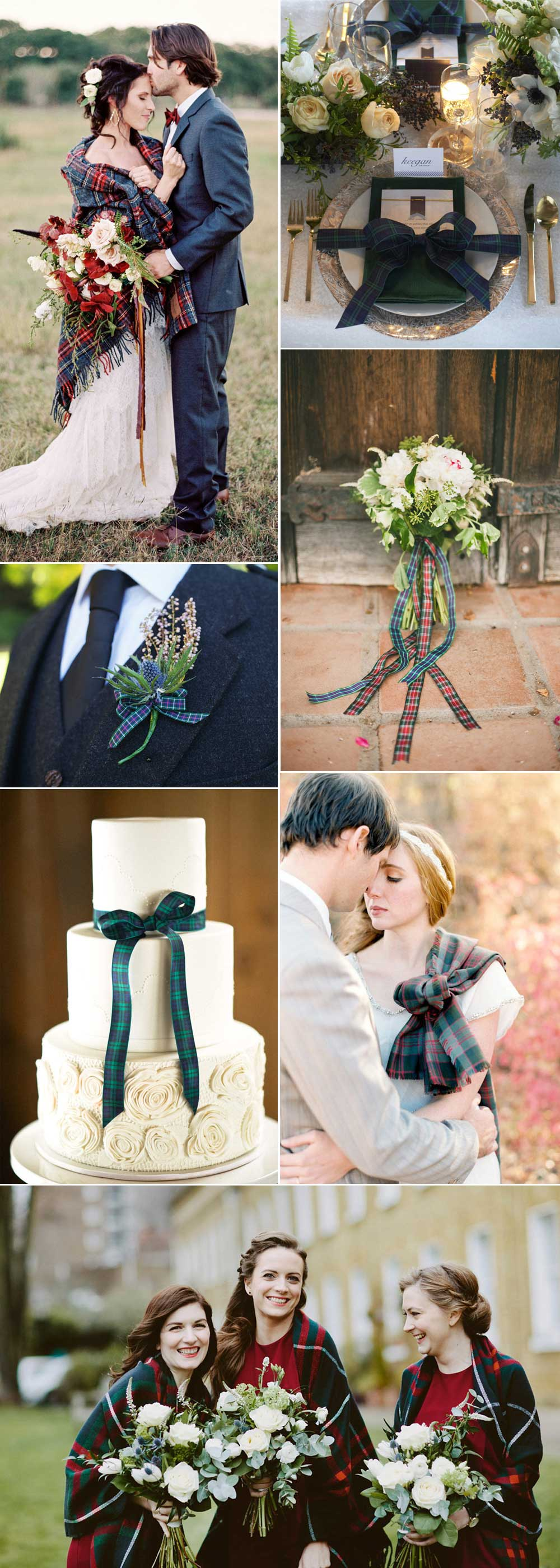 Ideas for a tartan wedding theme