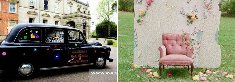 Taxi and Wallpaper Photo Booth Ideas