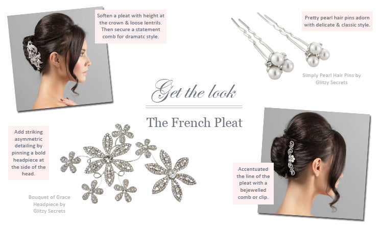 How to style a French pleat bridal hairstyle