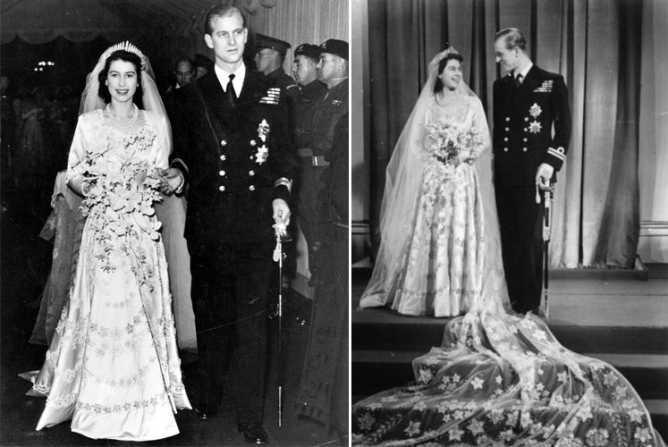 Queen Elizabeth wedding day