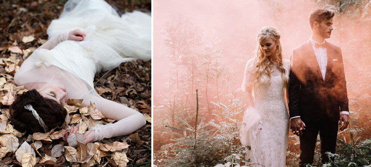inspiration to trash the dress after your wedding