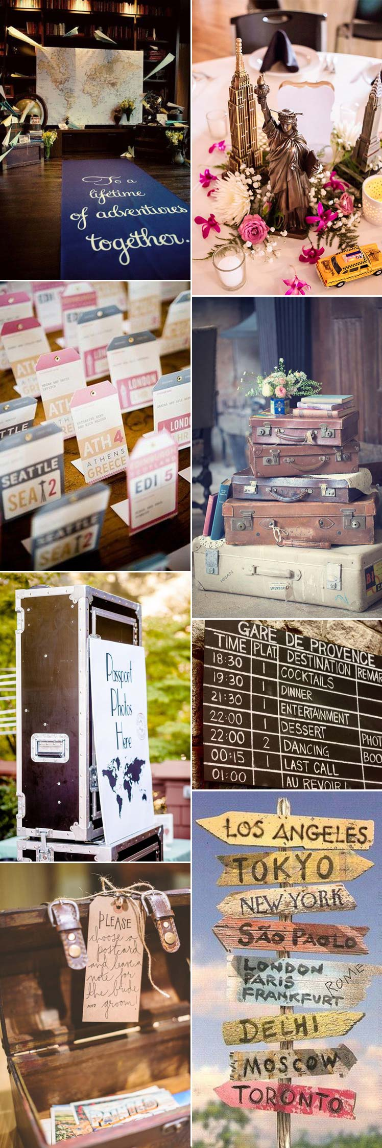 Travel themed wedding inspiration