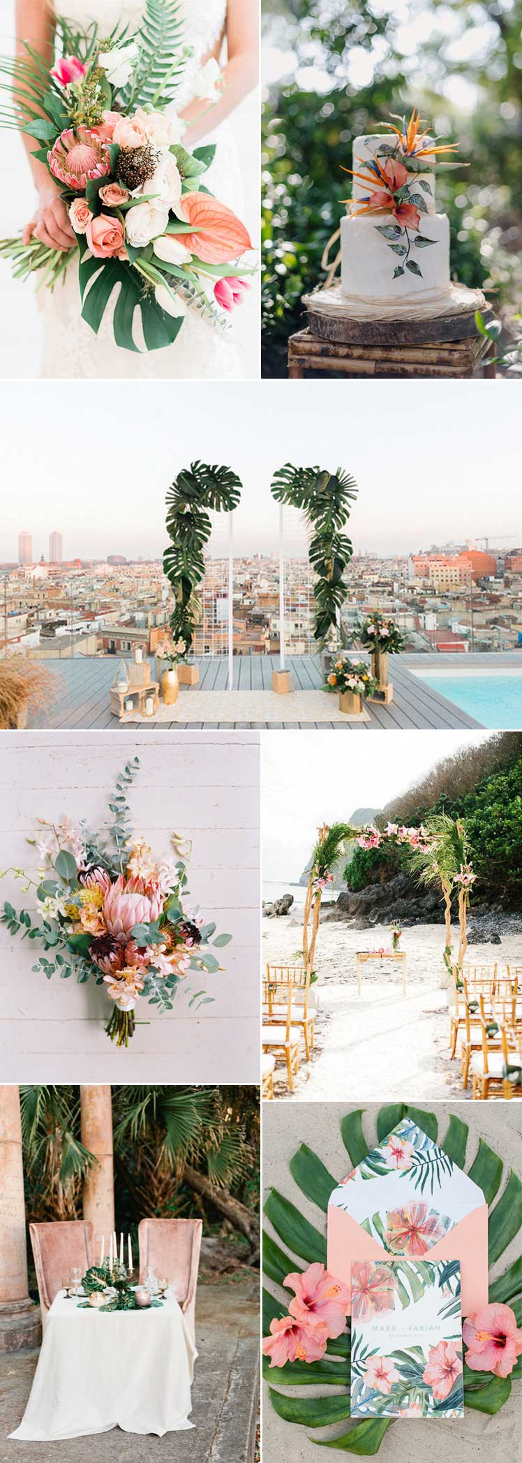 tropical wedding ideas for a summer wedding
