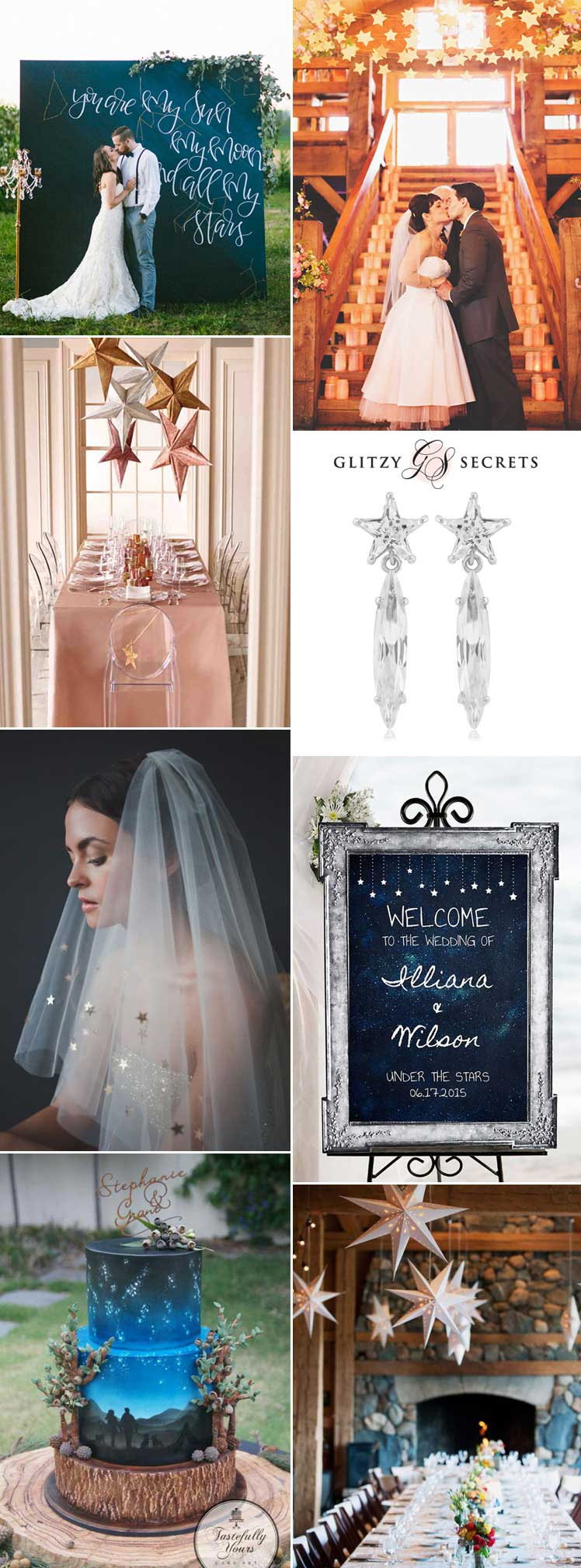 Inspiration for a star themed wedding day
