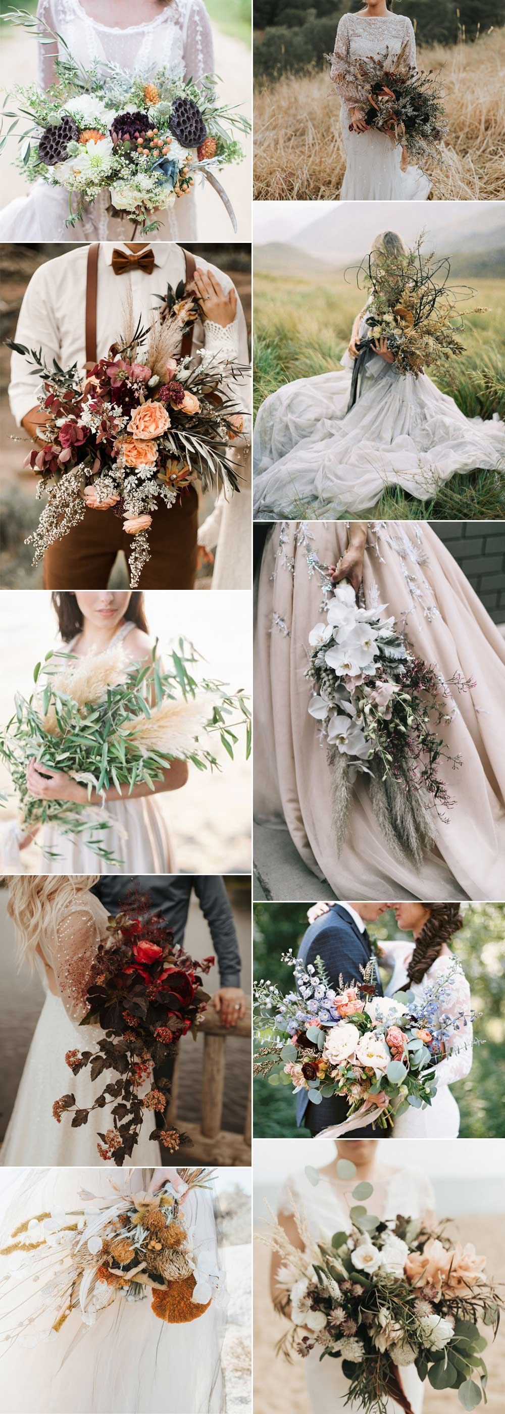 Unusual bouquets for weddings
