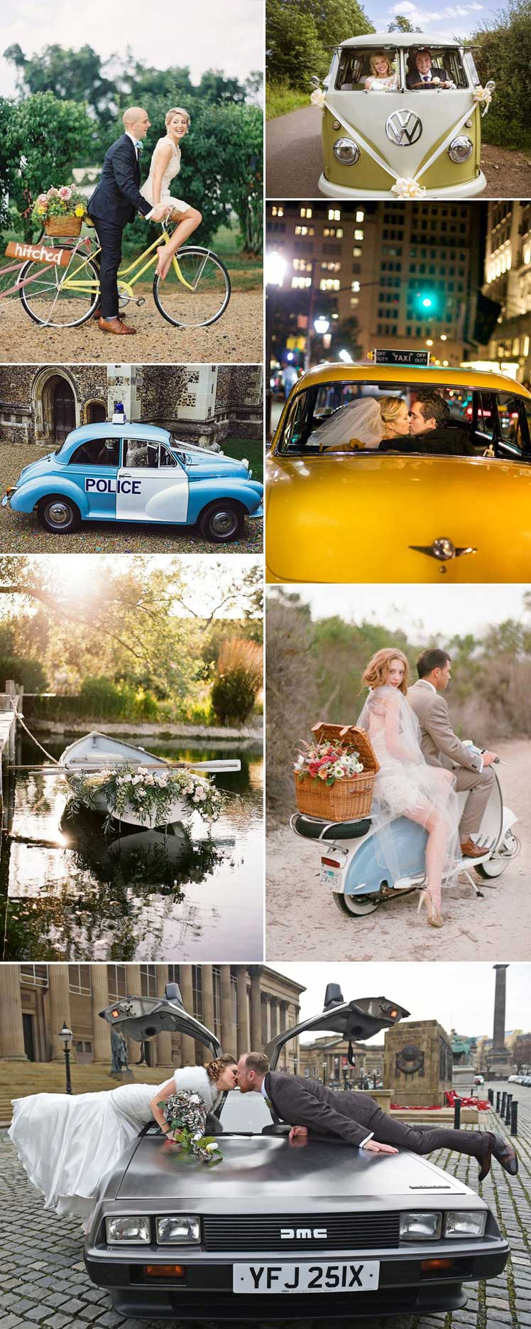 quirky transport to consider for your wedding