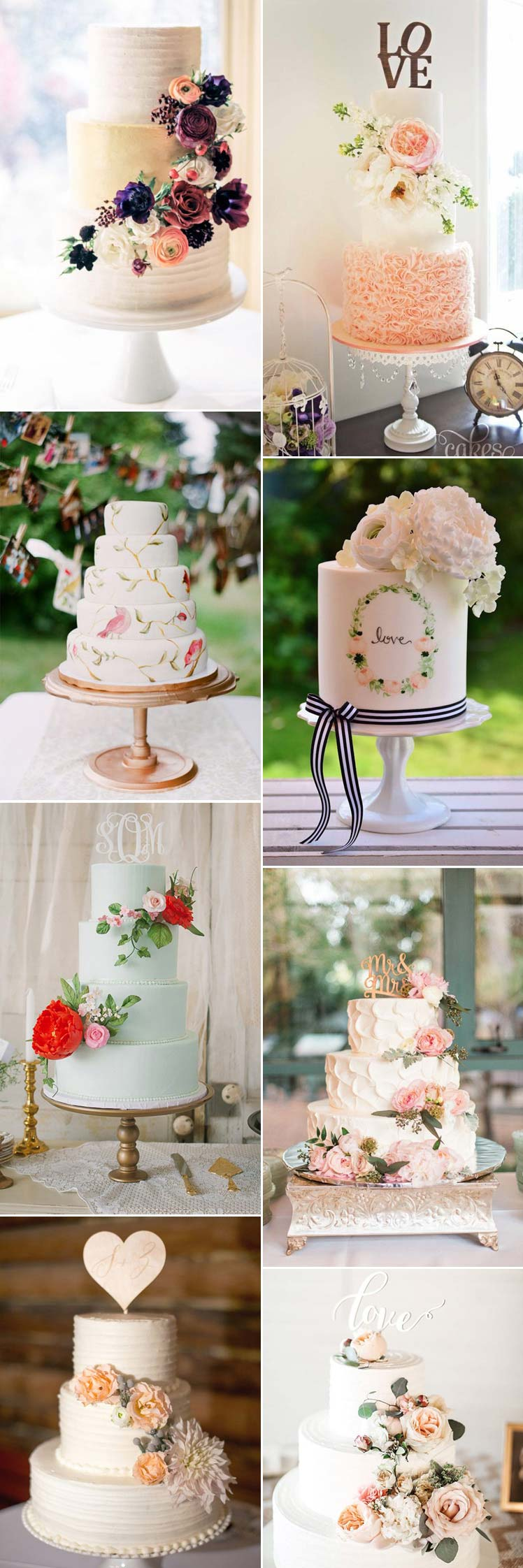 Inspiration for choosing a wedding cake for your Valentine's day