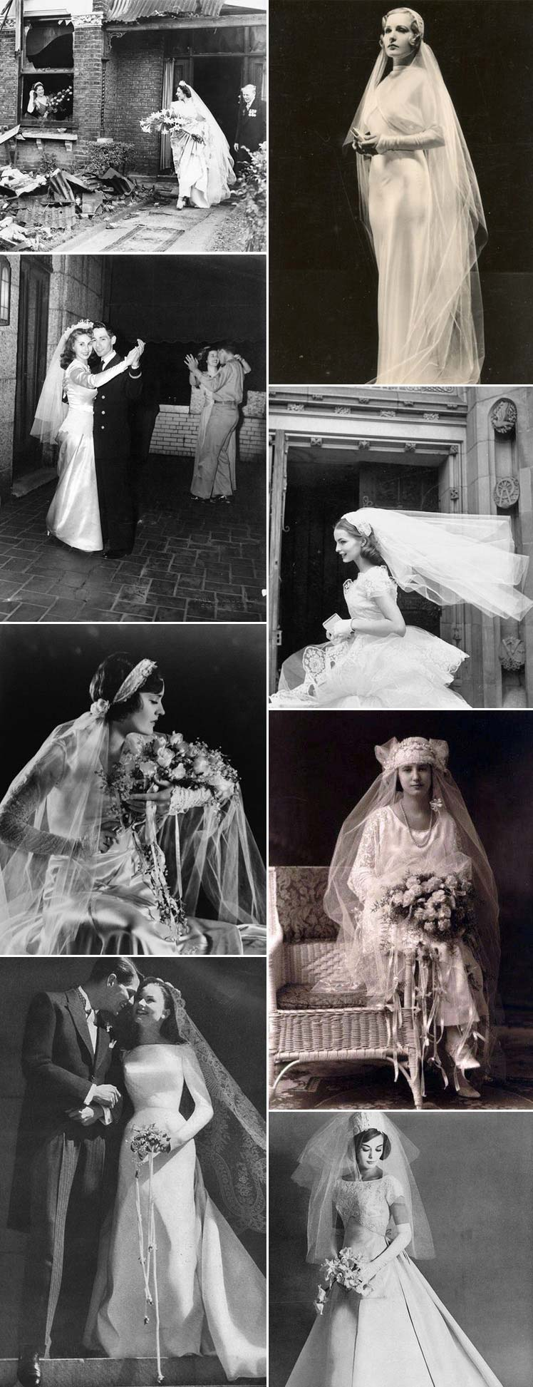 wedding  veils through the decades