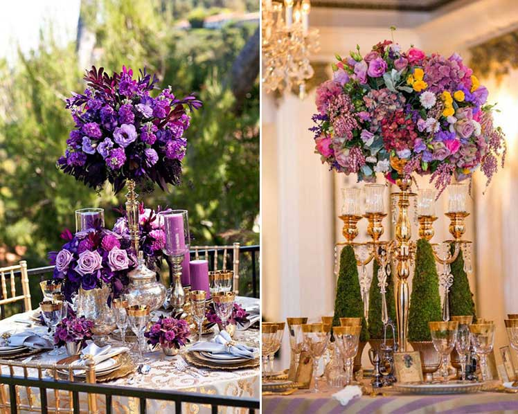 choose vibrant colours for your wedding centrepiece