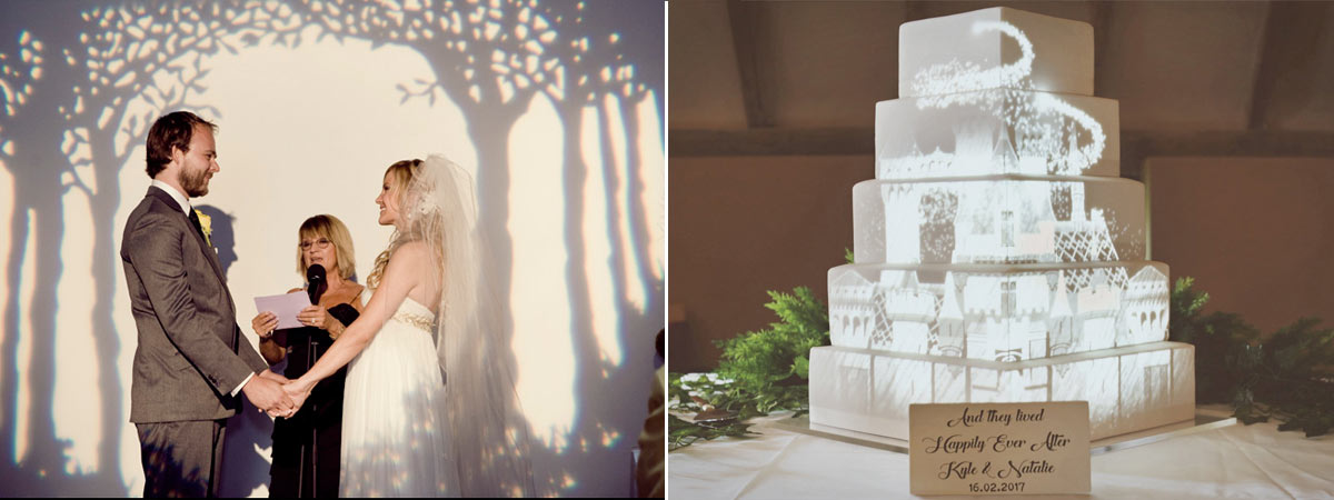 Video mapping wedding trends