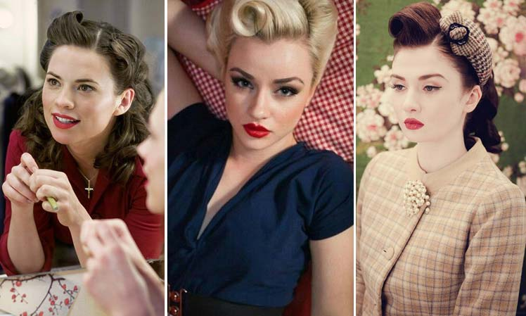 red lips for 1940s vintage make up
