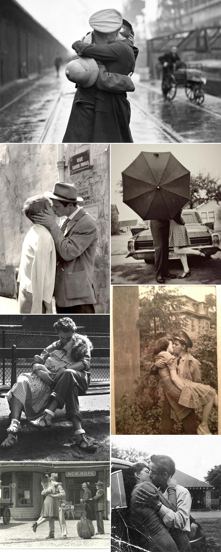 romantic and thought provoking vintage kisses
