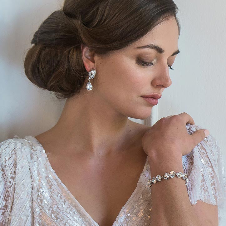 Range of vintage style wedding bracelets and bangles