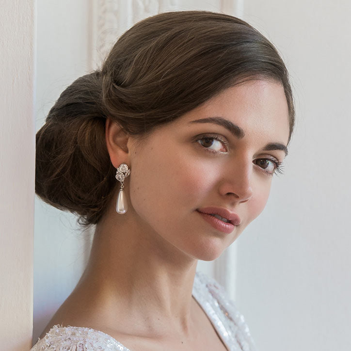 Collection of vintage earrings for brides