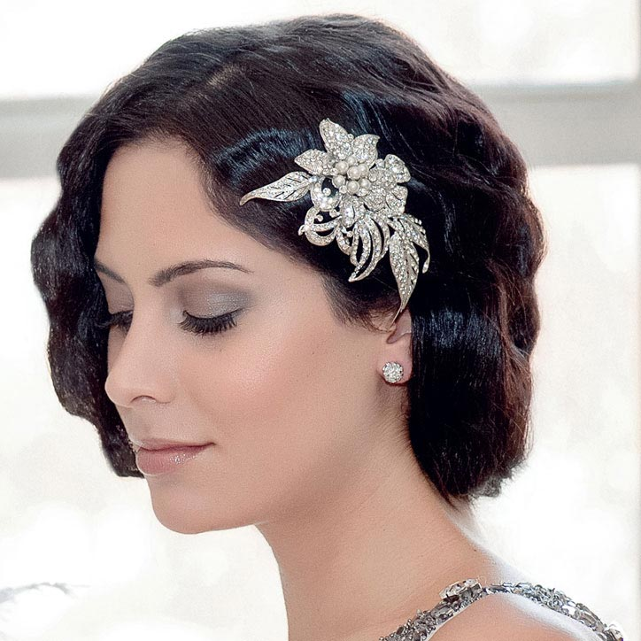 Dramatic vintage style wedding headpieces