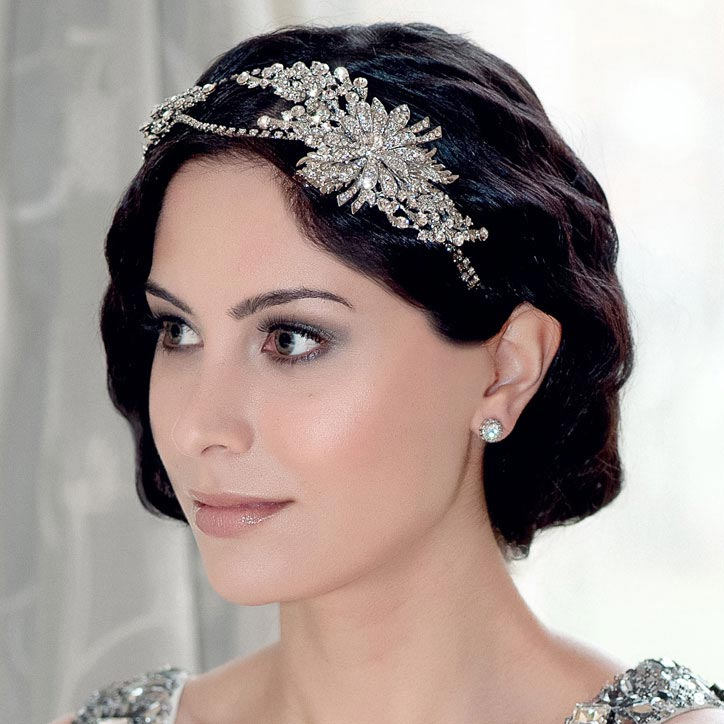 Vintage wedding side tiaras inspired by past decades