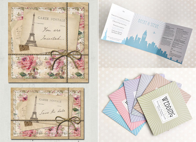 Vintage wedding stationary by Lucy Ledger and Michelle Fiedler