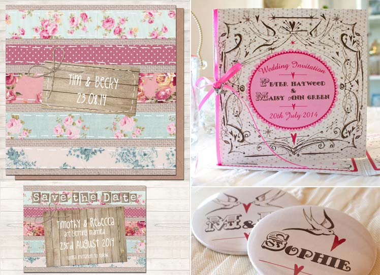 Wedding invitations by Sarah Wants and Bedcrumb