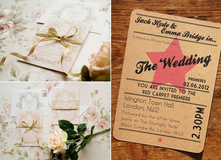 Wedding day stationery by Rose and Ruby and A Bird and A Bee