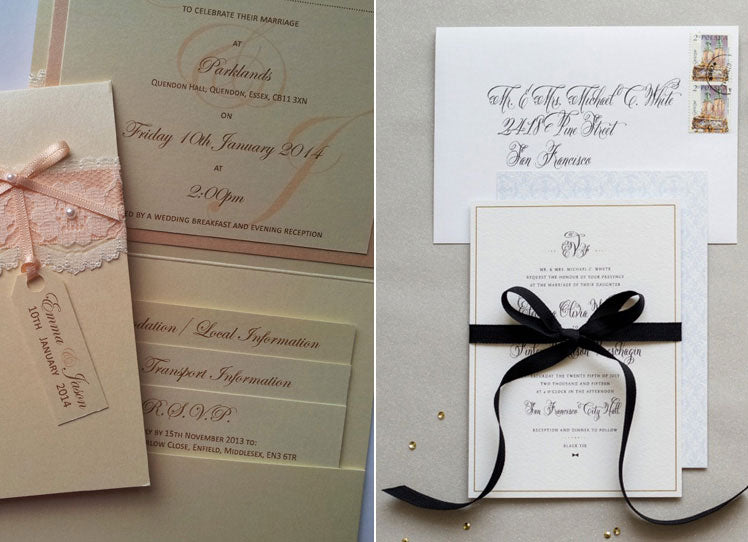 Wedding stationery by by Inspired by Lisa and Rose and Ruby