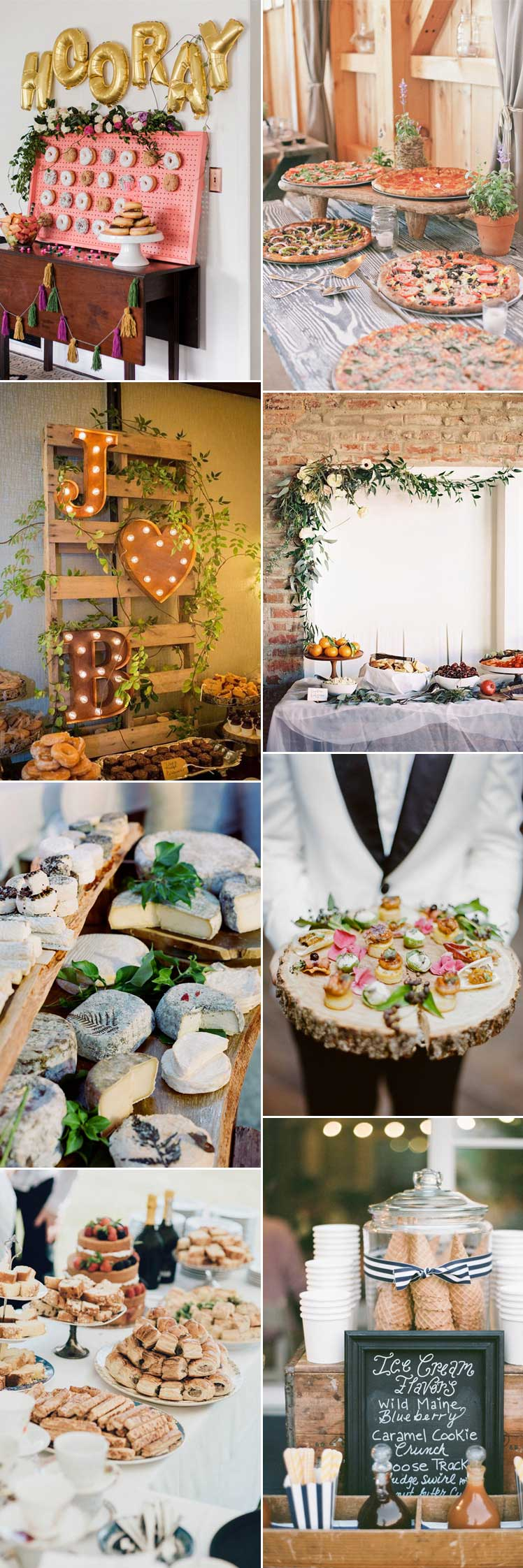 appetising wedding food stations