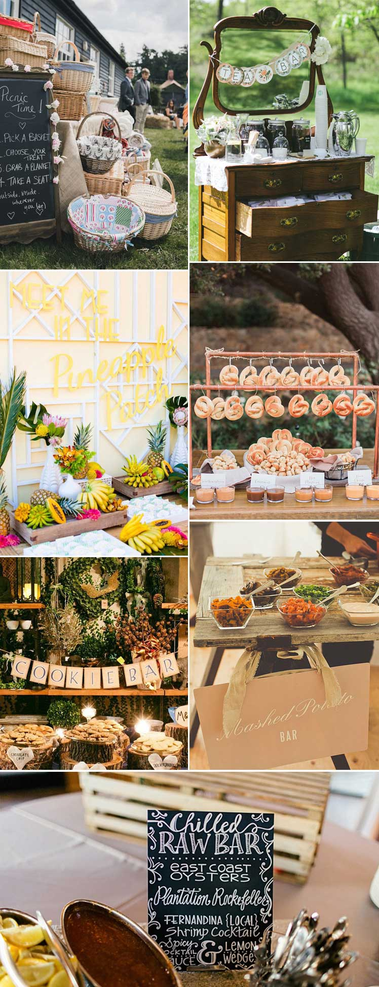 Wedding food station inspiration