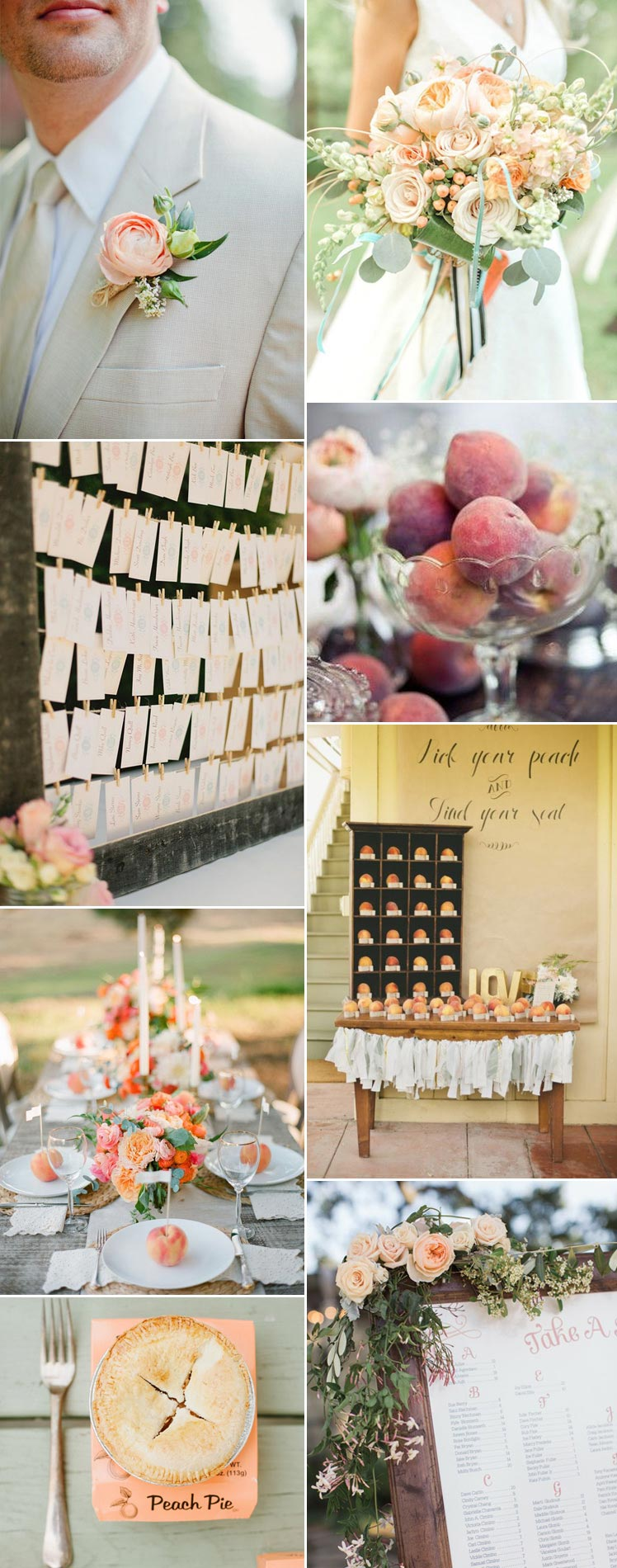 Inspiration for a peaches and cream wedding
