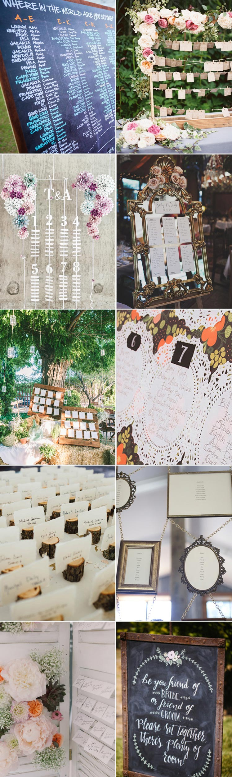 Inspiration for choosing the perfect seating plan
