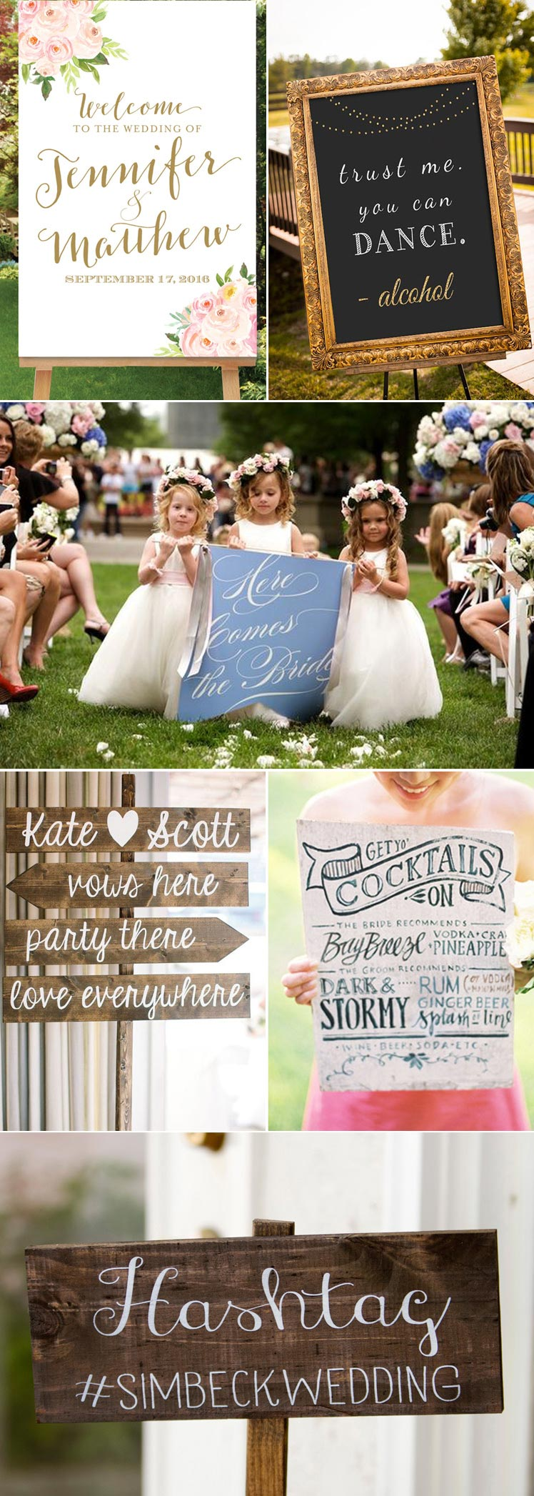 fabulous wedding signs for your big day