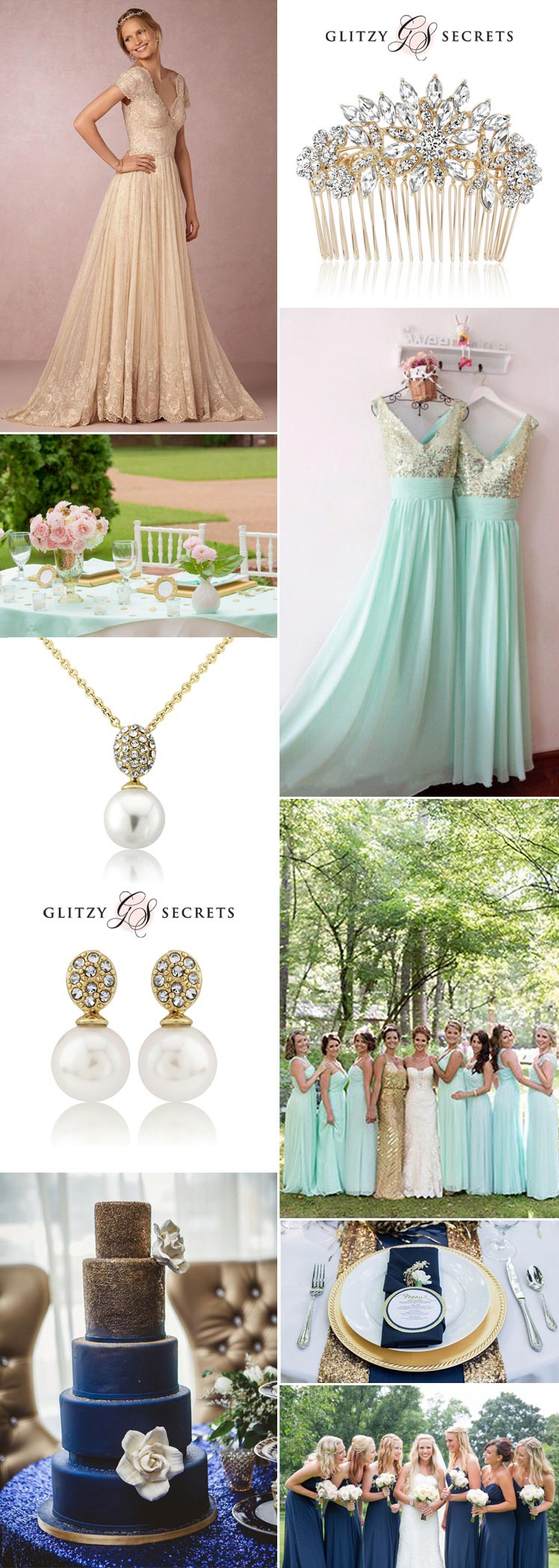 choosing gold wedding accessories