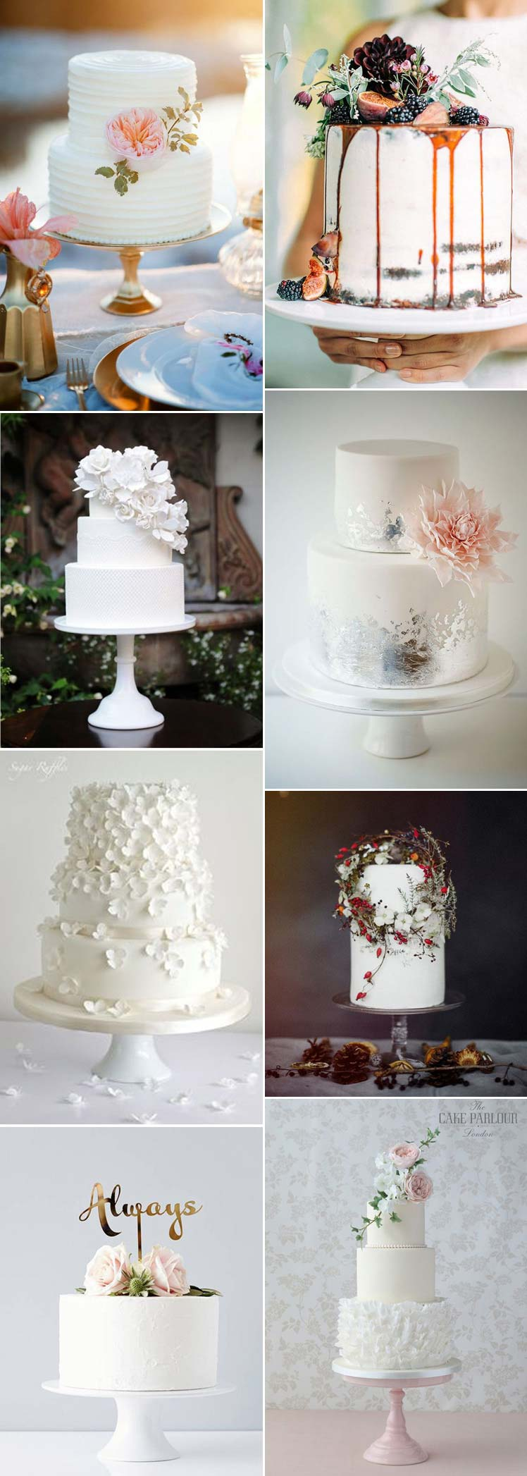 wonderful non-traditional white wedding cakes