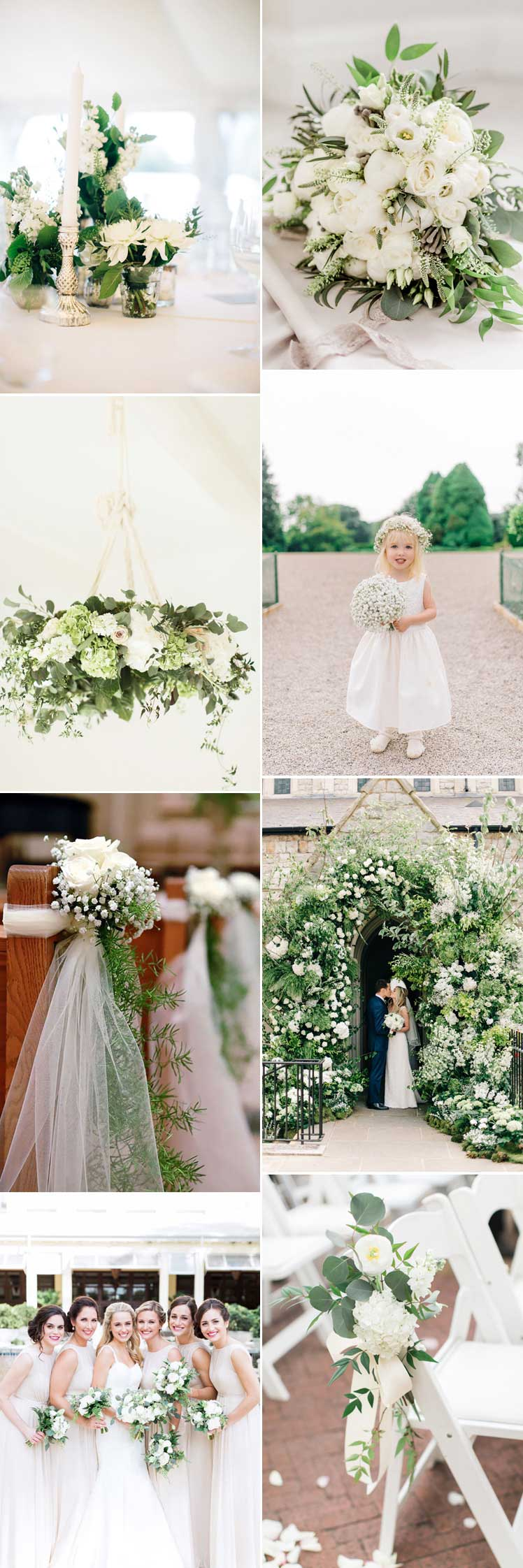 all white spring wedding flowers for your wedding