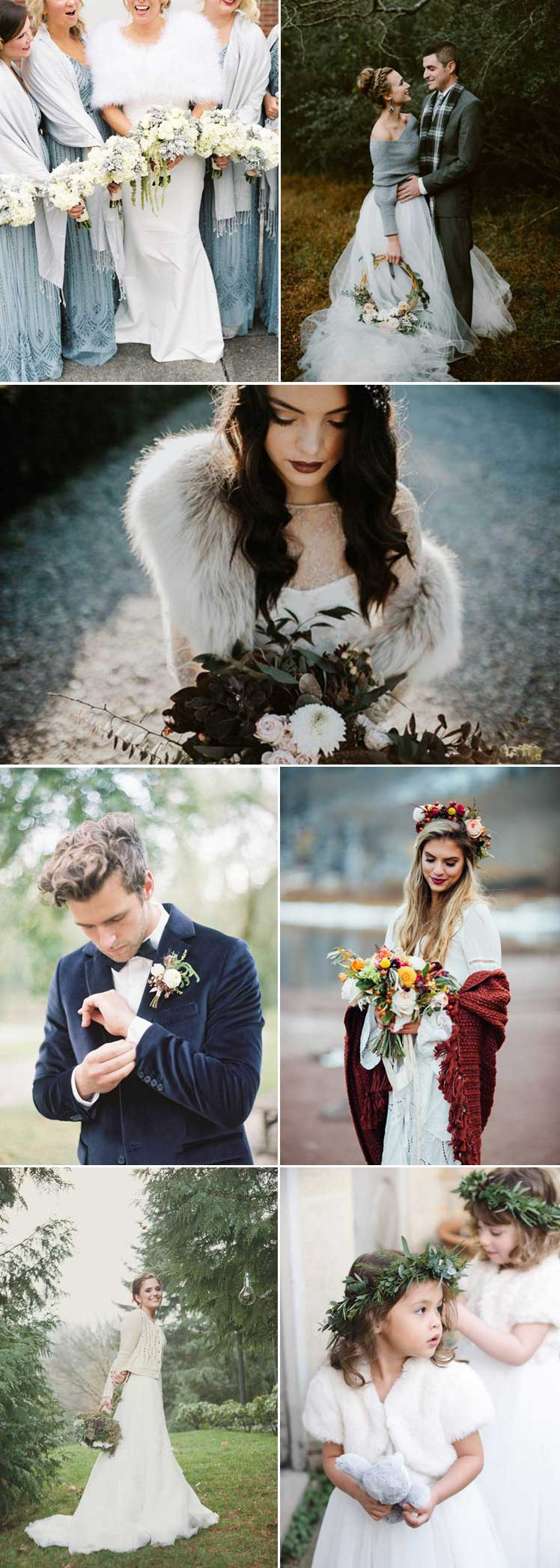 cosy winter wedding wraps