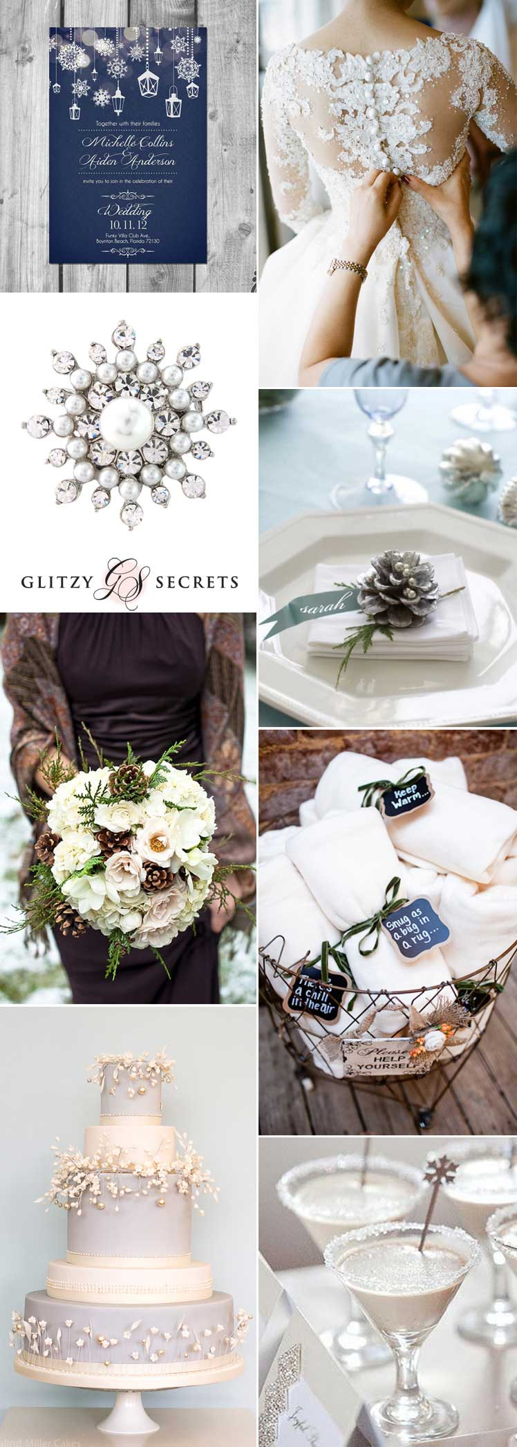 magical winter wonderland wedding inspiration