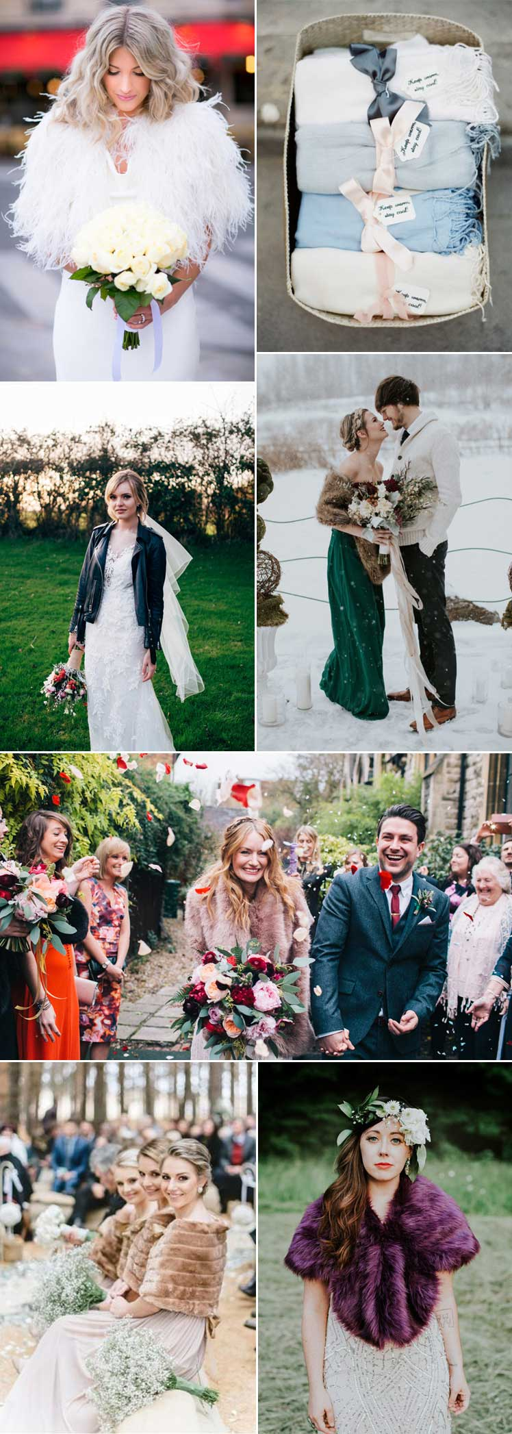 stylish ideas to wrap up for a winter wedding