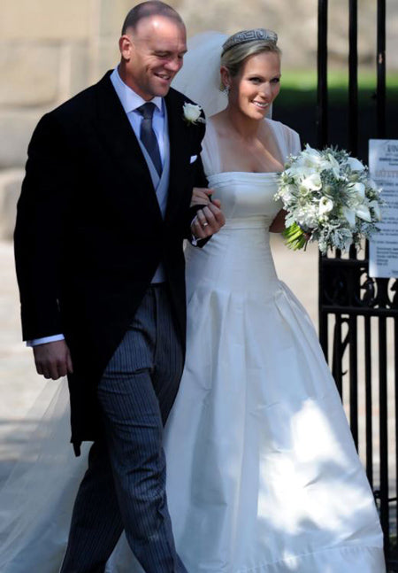 Zara Phillips and Mike Wedding Day