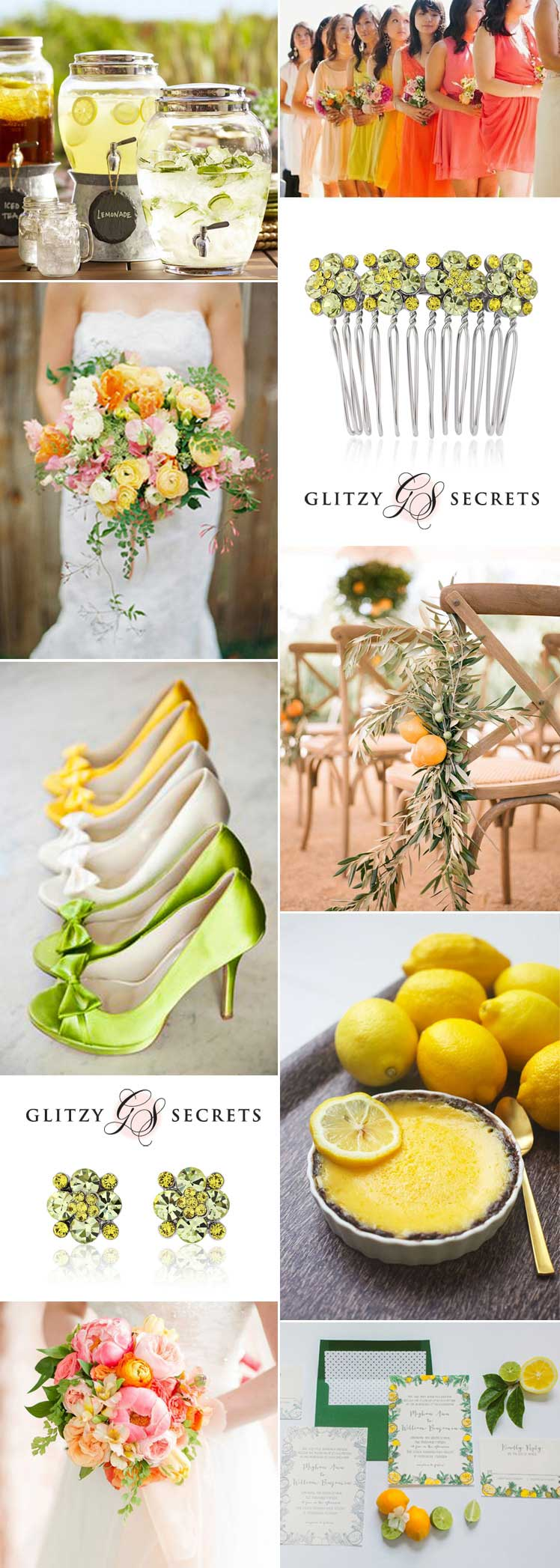 citrus shades for a summer wedding
