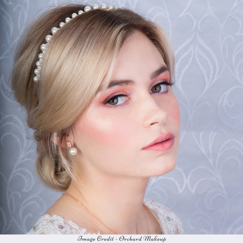 Pearls of Rose Gold Bridal Headband