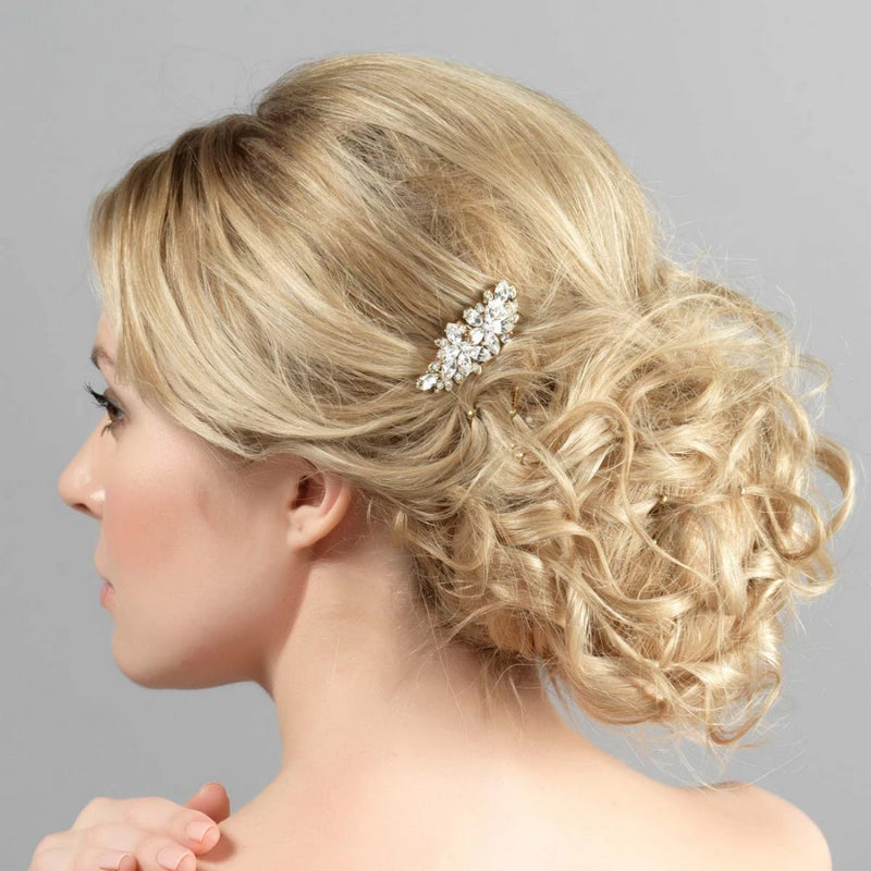 Angel's Sparkle Gold Crystal Hair Comb